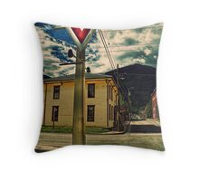 A Sign From  Past Times Throw Pillow