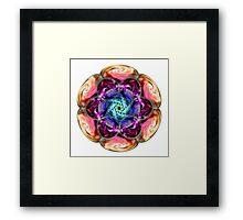 Sacred Cells Mandala Framed Print