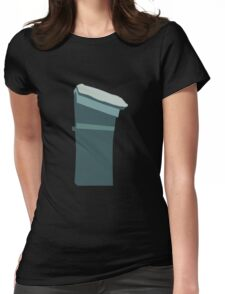 Glitch Substrata warehouse shed Womens Fitted T-Shirt