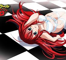 Highschool DxD - Rias Gremory, chess by ghoststorm