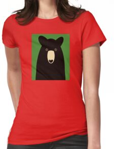 BLACK BEAR PORTRAIT  #1 Womens Fitted T-Shirt