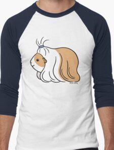 Guinea-pig Tail - long haired cavy Men's Baseball ¾ T-Shirt