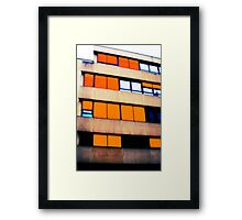 The yellow shutters Framed Print