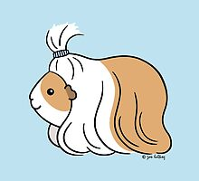 Guinea-pig Tail - long haired cavy by zoel