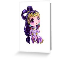 Lunar Chibi Goddess Diana Greeting Card