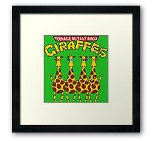 Teenage Mutant Ninja Giraffes Framed Print