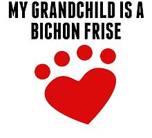My Grandchild Is A Bichon Frise by kwg2200