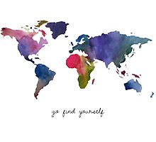 Go find yourself Photographic Print
