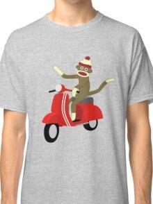 Sock Monkey Vespa Scooter Classic T-Shirt