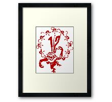 12 Monkeys - Terry Gilliam - Red on White Framed Print