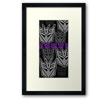 The Iconic Decepticons (black) Framed Print