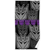 The Iconic Decepticons (black) Poster