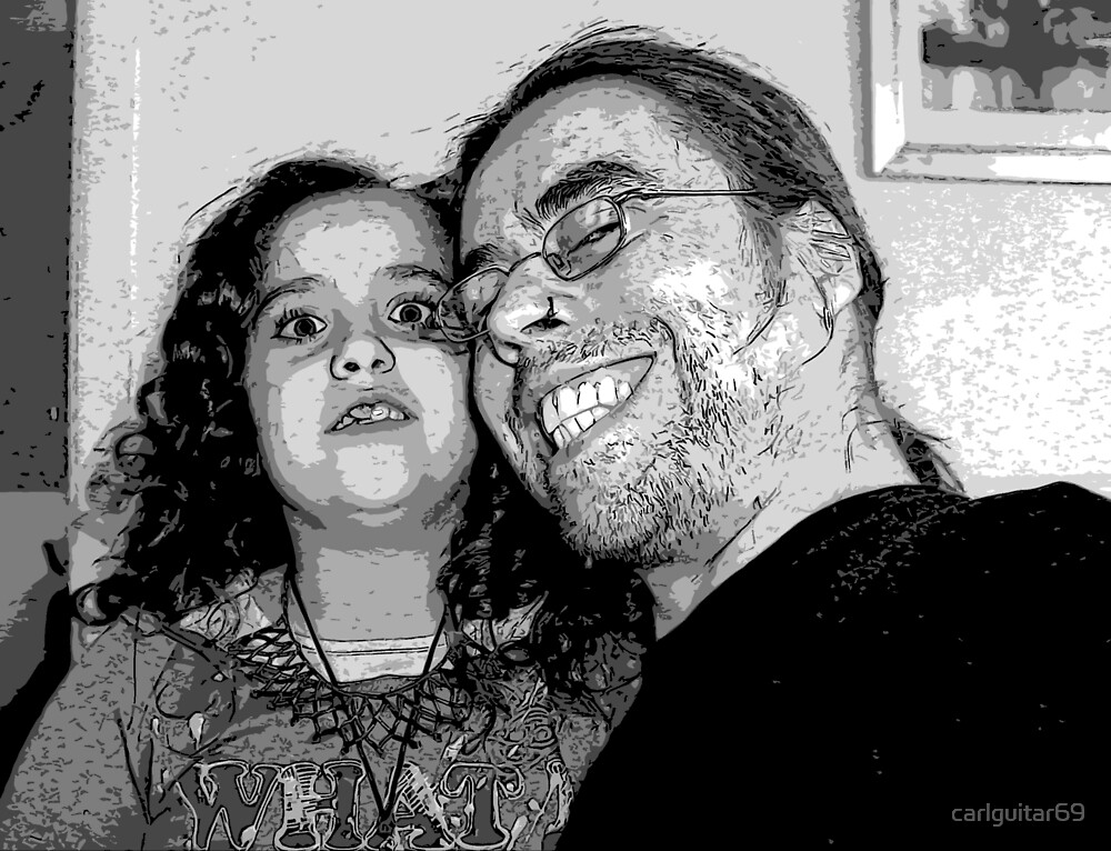Storm and Dad, love in black and white by carlguitar69