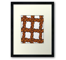pigtail ornament Framed Print