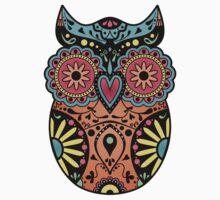 Sugar Skull Owl Kids Clothes