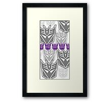 The Iconic Decepticons (white) Framed Print