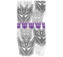The Iconic Decepticons (white) Poster
