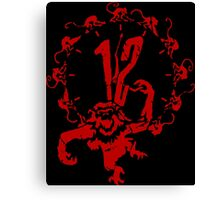 12 Monkeys - Terry Gilliam - Red on Black Canvas Print
