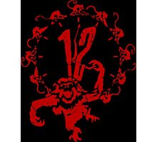 12 Monkeys - Terry Gilliam - Red on Black Photographic Print