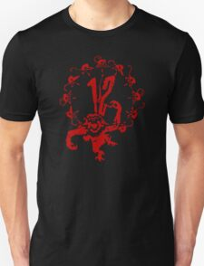 12 Monkeys - Terry Gilliam - Red on Black T-Shirt