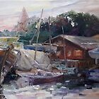 Off-Hours At The Ship Yard In Kirchdorf, Island Poel by Barbara Pommerenke