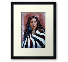"""""""Wrapped In Tradition, Naomi"""" Framed Print"""