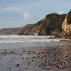 caswell bay cliff by mik27rc1