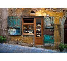 Tuscany wine shop Photographic Print