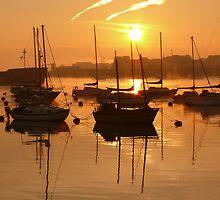 River sunrise by brummieboy