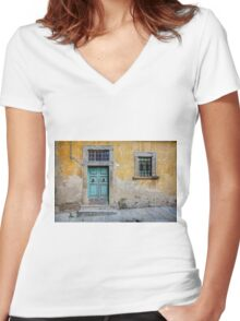 Tuscany door Women's Fitted V-Neck T-Shirt