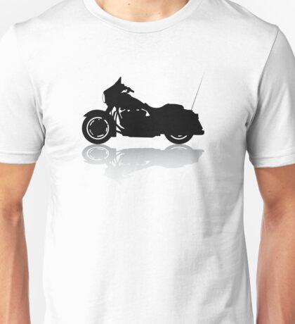 Cruiser Motorcycle Silhouette with Shadow Unisex T-Shirt