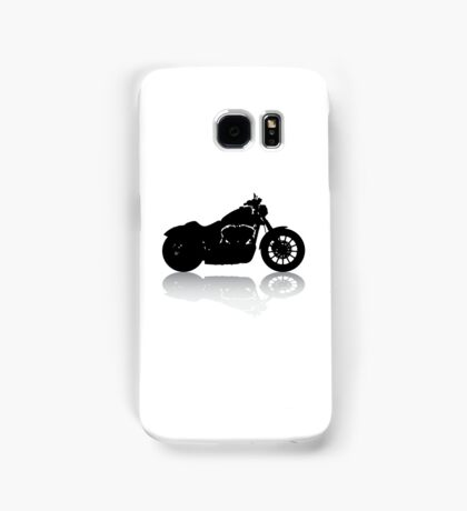 Cruiser Motorcycle Silhouette with Shadow Samsung Galaxy Case/Skin