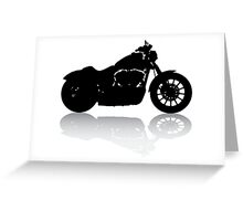 Cruiser Motorcycle Silhouette with Shadow Greeting Card