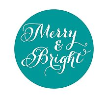 Merry and Bright, teal dot by beakraus