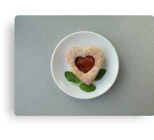 cookies heart Canvas Print