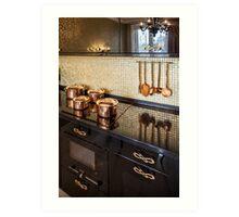 Interior of modern luxury kitchen Art Print
