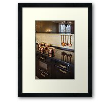Interior of modern luxury kitchen Framed Print