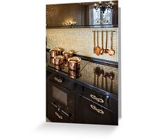 Interior of modern luxury kitchen Greeting Card