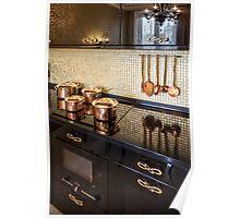 Interior of modern luxury kitchen Poster