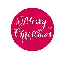 Merry Christmas, pink dot Photographic Print