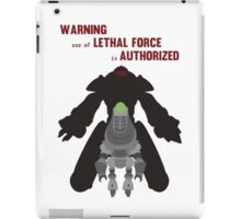 Lethal force iPad Case/Skin