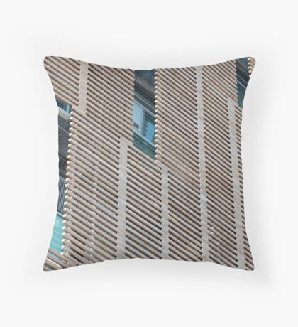 Outdoor Wooden jalousie   Throw Pillow
