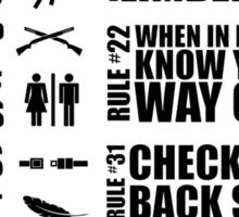 Zombieland Survival Guide Sticker