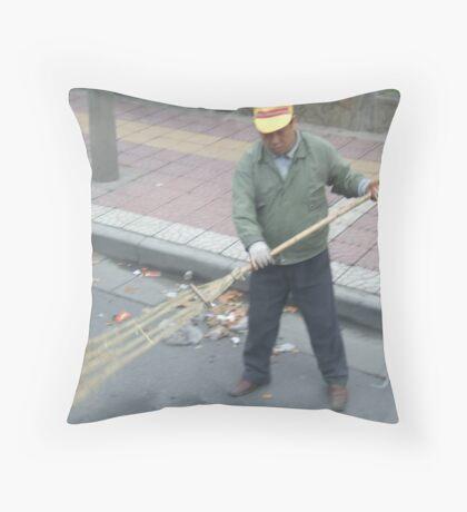Street Sweeper Throw Pillow