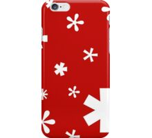 Typographic Star/Snow, Christmas Card iPhone Case/Skin