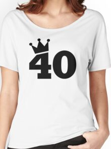 Crown 40th birthday Women's Relaxed Fit T-Shirt