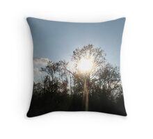 Sunny Trees Throw Pillow