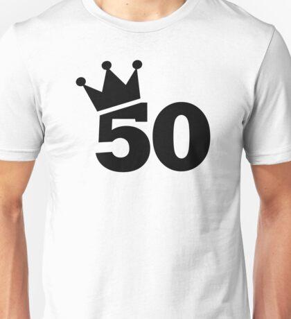 Crown 50th birthday Unisex T-Shirt