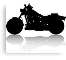 Cruiser Motorcycle Silhouette with Shadow Canvas Print