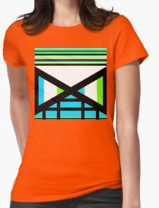 Dagaz Day Contemporary Norse Rune Art Blue White Black Green Womens Fitted T-Shirt